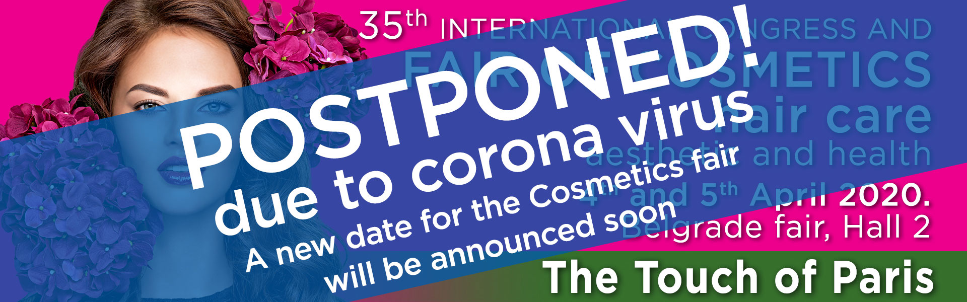 International fair The touch of Paris - postponed due to Coronavirus