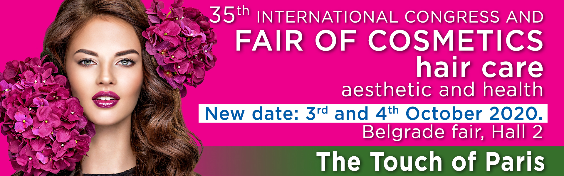 International fair and congress of cosmetics, hair care, aesthetics, health, wellness and fitness, The touch of Paris