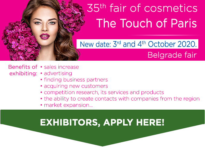 Reservation form for the international fair and congress of cosmetics