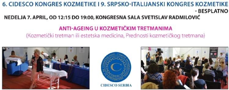 6. Cidesco kongres kozmetike i 9. Srpsko-Italijanski kongres kozmetike - anti ageing u kozmetičkim tretmanima