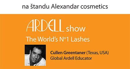 Ardell show na štandu Alexandar cosmetics