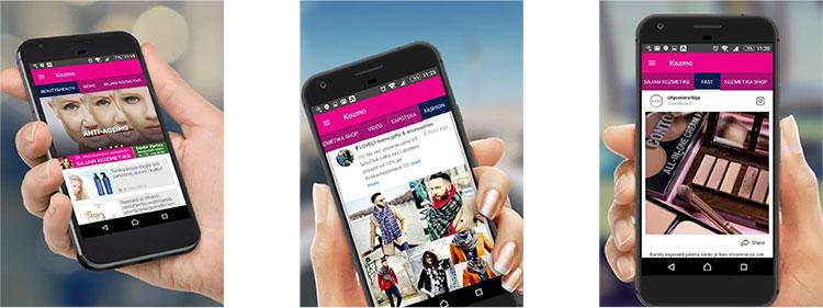 Mobilna aplikacija KOZMO u praksi