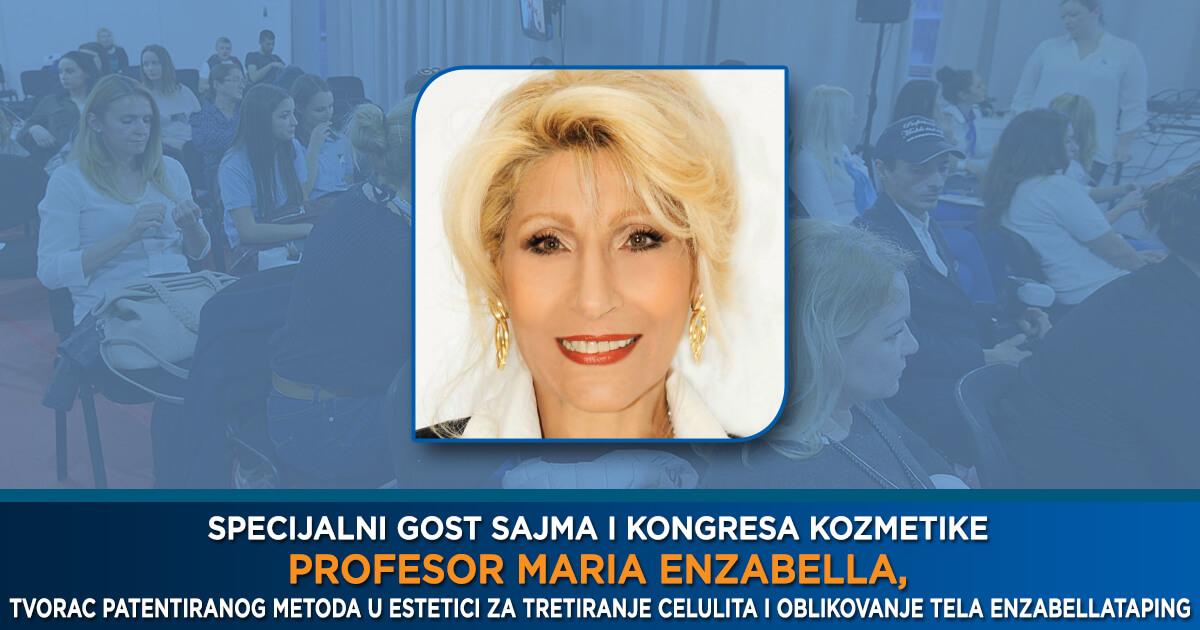 Profesor Maria Enzabella na 32. Sajmu kozmetike