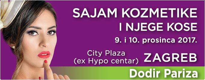 Sajam kozmetike i njege kose Dodir Pariza 9. i 10. prosinca 2017. City Plaza (ex Hypo centar), Slavonska avenija 6, Zagreb