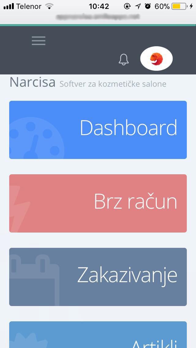 Narcisa mobilna aplikacija