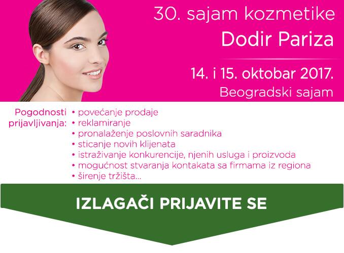 Prijava za izlagače za sajam kozmetike