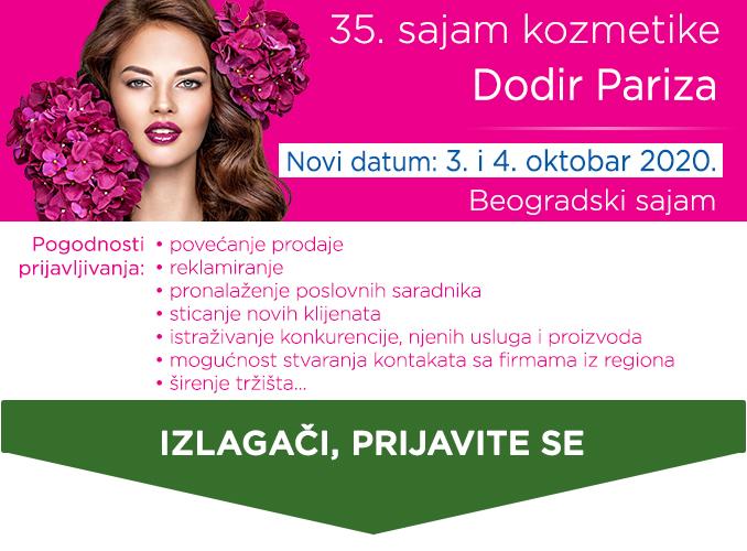 Sajam kozmetike prijava za domaće izlagače