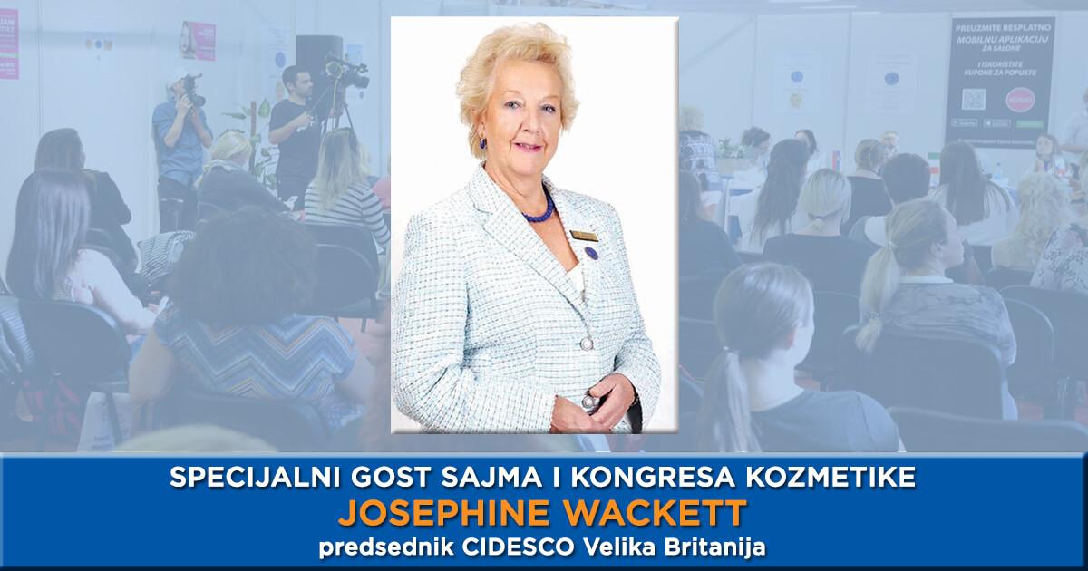 Specijalni gost CIDESCO kongresa i 33. Sajma kozmetike Josephine Wackett